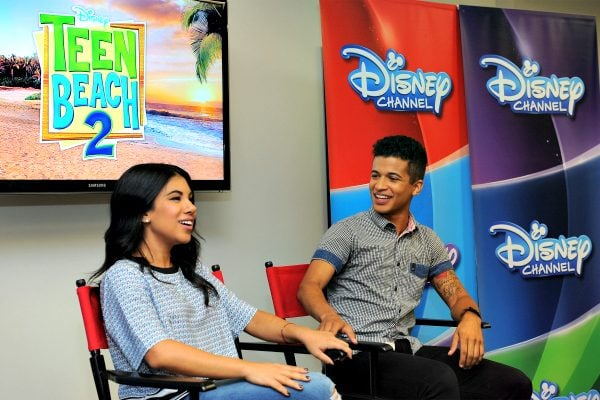 Disney Stars Chrissie Fit and Jordan Fisher #TeenBeach2Event