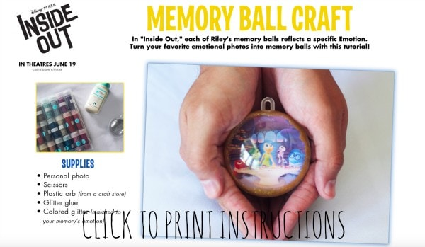 Inside Out Memory Ball Craft #InsideOutEvent