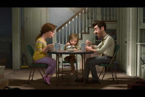 Dinner scene from #InsideOut Kyle MacLachlan as voice of Riley's Dad #InsideOutEvent