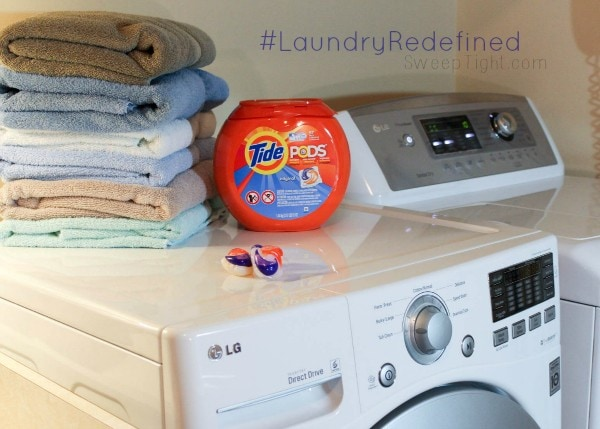 Laundry is easy with Tide Pods #LaundryRedefined #ad