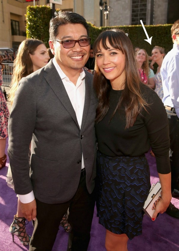 Co-director Ronnie Del Carmen and actress Rashida Jones attend the Los Angeles Premiere and Party for Disney/Pixar's INSIDE OUT at El Capitan Theatre on June 8, 2015 in Hollywood, California #InsideOutEvent