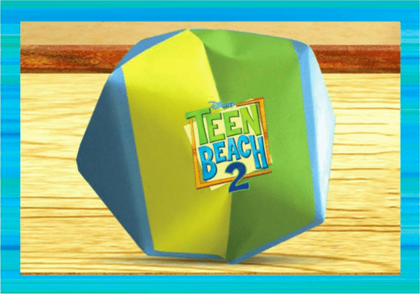 Teen Beach 2 viewing party crafts - Origami Beach Ball #TeenBeach2Event