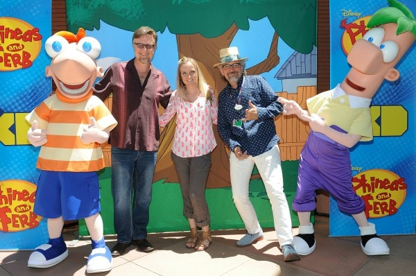 Shelley from SweepTight.com with #PhineasAndFerb Creators #PhineasAndFerbEvent #LastDayOfSummer