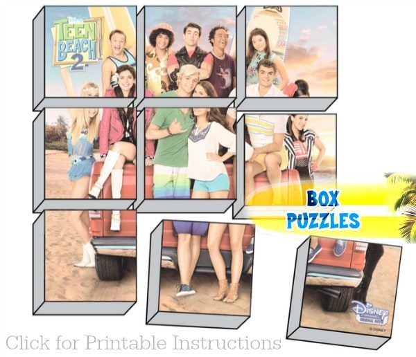 Teen Beach 2 Viewing Party Activities and Crafts - Box Puzzles #TeenBeach2Event