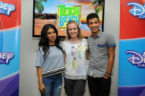 #TeenBeach2 stars Chrissie Fit and Jordan Fisher with Shelley from SweepTight.com #TeenBeach2Event