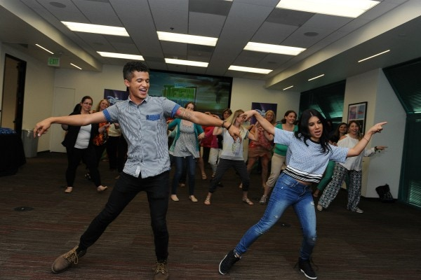 #TeenBeach2 How to dance lesson from Chrissie Fit and Jordan Fisher #TeenBeach2Event