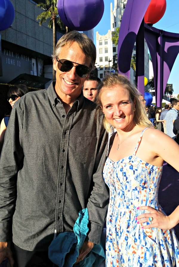 Tony Hawk and Shelley from SweepTight.com at the Inside Out Movie premiere #InsideOutEvent