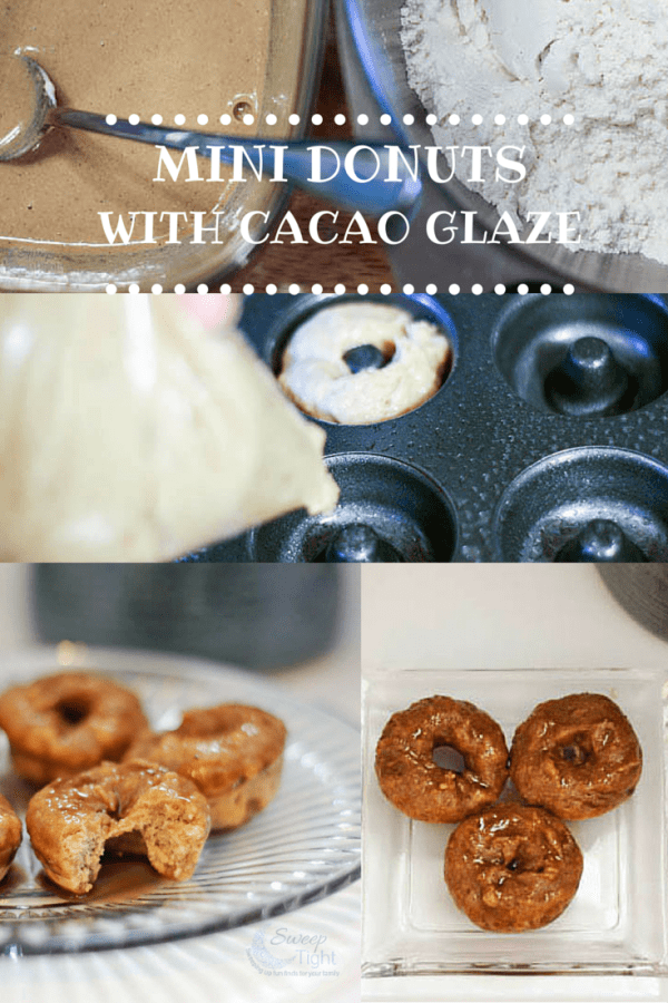 Donut Recipe - Baked Mini Coffee Doughnuts with Cocoa Glaze