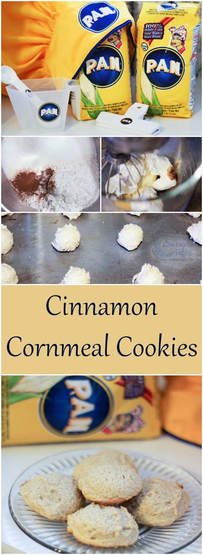 Cinnamon Cornmeal Cookies Recipe #PANFan