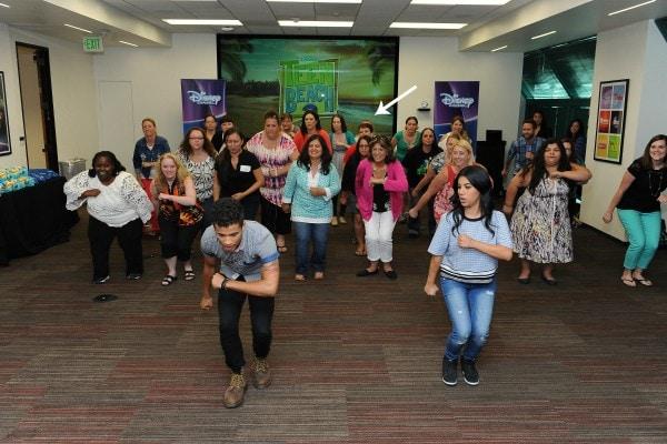 #TeenBeach2 stars Chrissie Fit and Jordan Fisher teach us how to dance
