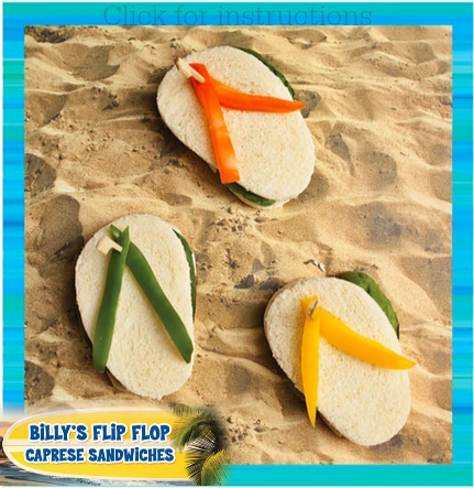 Teen Beach 2 viewing party recipes: Flip Flop Sandwiches #TeenBeach2Event