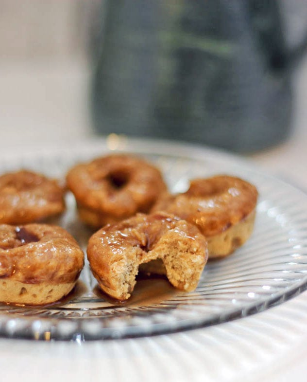 Donut Recipe – Baked Mini Coffee Doughnuts with Cocoa Glaze