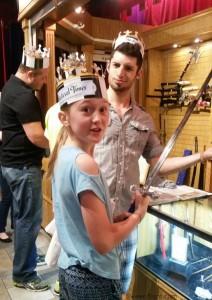 Girls like swords too #MedievalSummer #spon