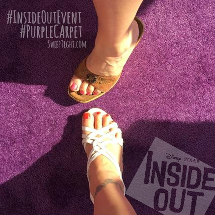 Pretty toes on the purple carpet for the Inside Out Movie premiere #InsideOutEvent