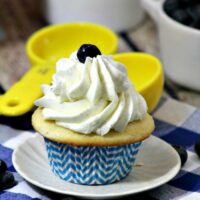 Blueberry pie filled Cupcake 3-4