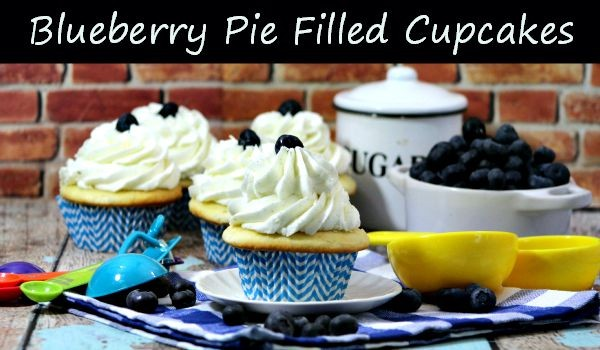 Blueberry Pie Filled Cupcakes Recipe