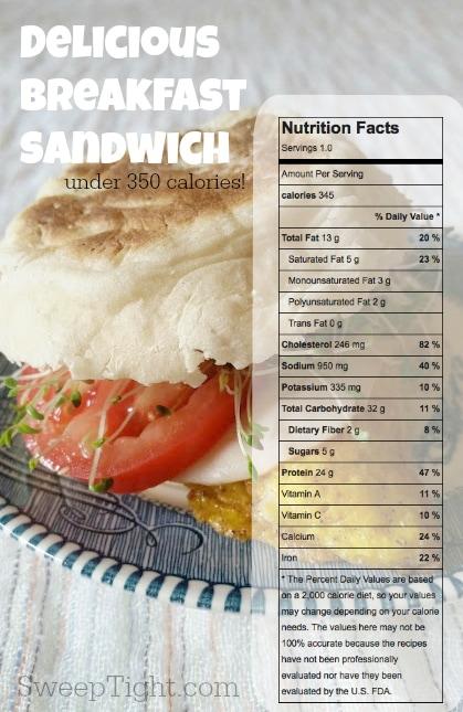Healthy Breakfast Recipes - Breakfast Sandwich with sprouts