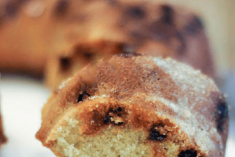 Corn Pound Cake Recipe with Cinnamon Chips #PANFan
