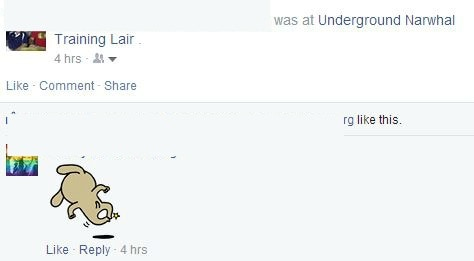 Check in while you are at home, but name your location something awesome. Like, Underground Narwhal Training Lair.