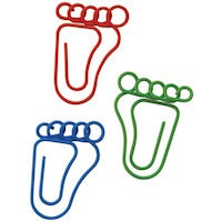 Feet paper clips make office work and homework fun!