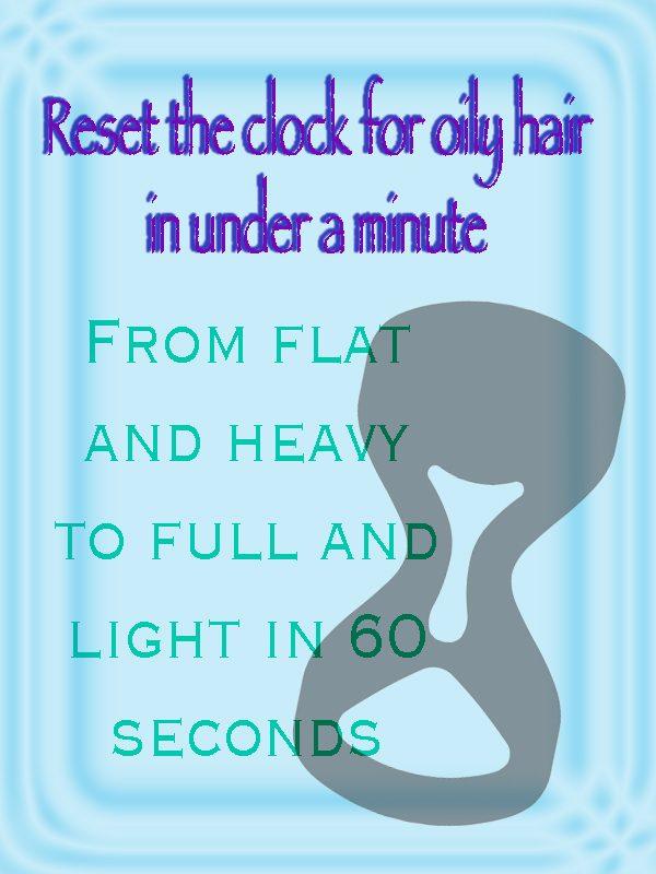 Dry shampoo - save time
