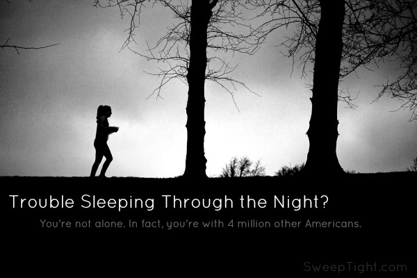 If you have trouble sleeping through the night, you're not alone. #IC #ad