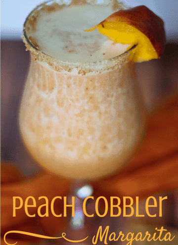 Drink your Dessert with this Peach Cobbler Margarita Recipe