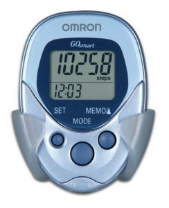 This pedometer tracks your steps whether it is horizontal or vertical. Plus it's super thin. Perfect for office work