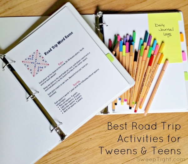 5 Family Road Trip Printables to Keep Tweens Looking out the Window