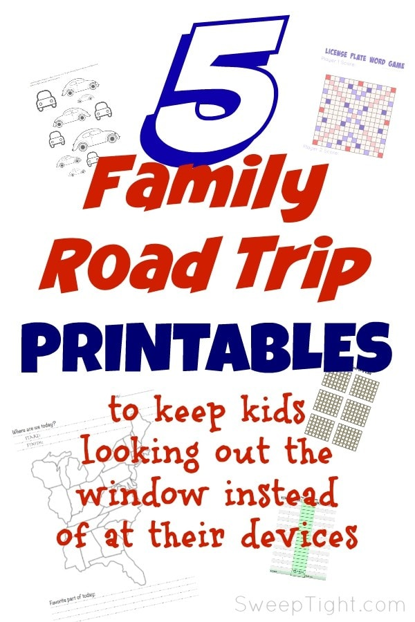 Awesome and fun road trip printables for tweens #MFRoadTrip
