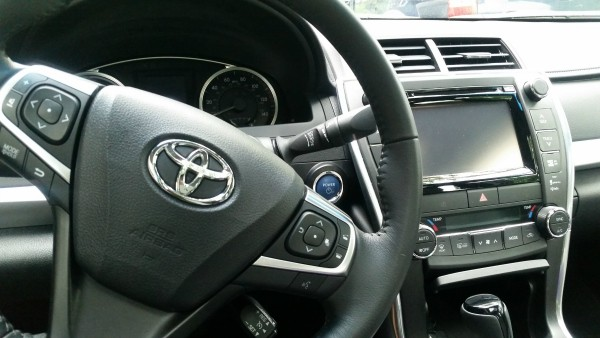 Inside the 2015 Toyota Camry Hybrid car #DriveToyota #spon