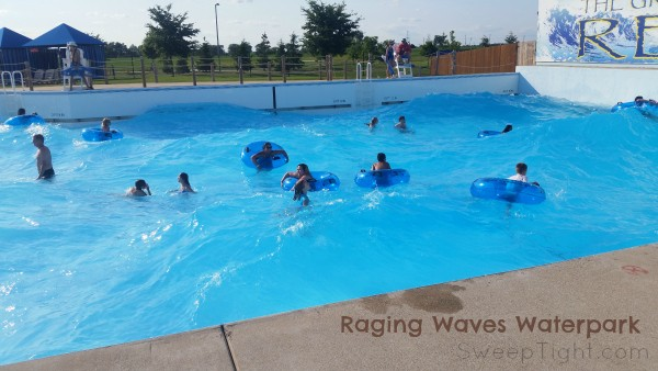 The wave pool at Raging Waves waterpark is so much fun! #EndlessSummer #ad