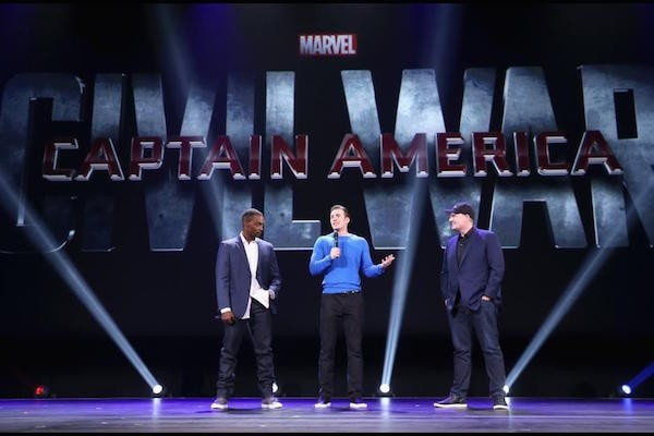 Captain America Civil War is going to be awesome out of all the upcoming movies, this one is on top of my list #CaptainAmerica #CivilWar #D23Expo