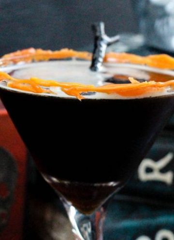 Coffee Martini Recipe with Melted Candy Corn