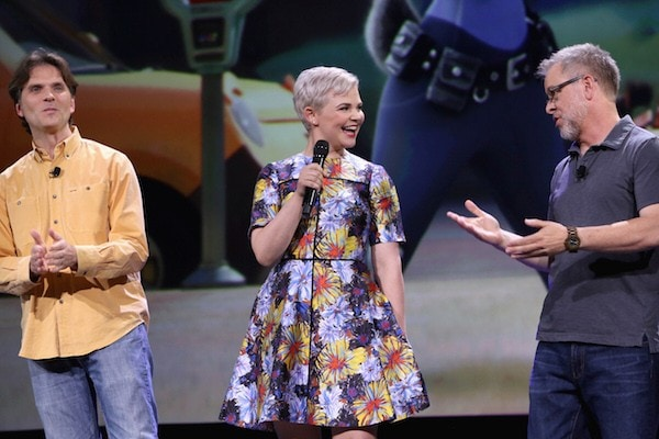 Ginnifer Goodwin as the voice of Judy Hopps in #Zootopia #D23Expo