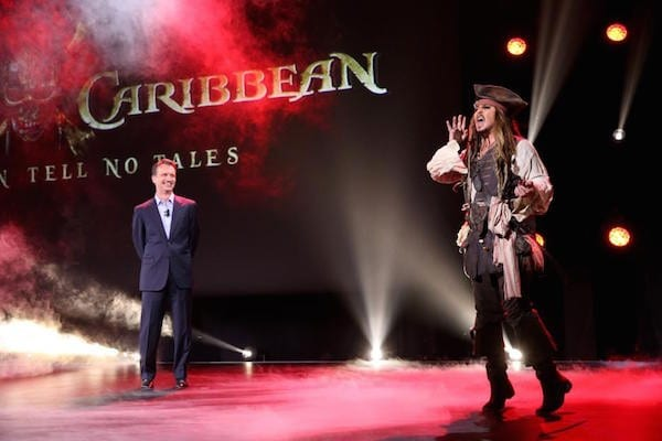 Johnny Depp at #D23Expo as Captain Jack Sparrow