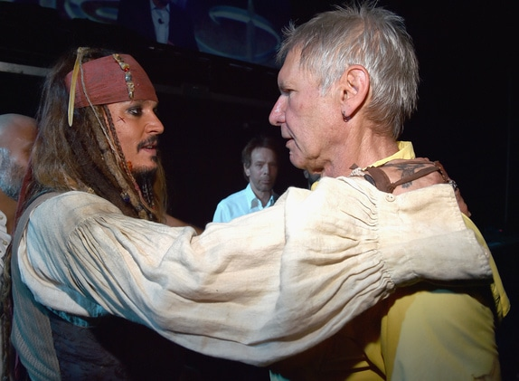 Johnny Depp and Harrison Ford #D23Expo
