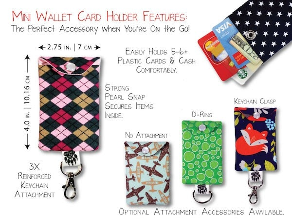Mini wallet goes great with zipper phone wallet #SewLakeTahoe #spon