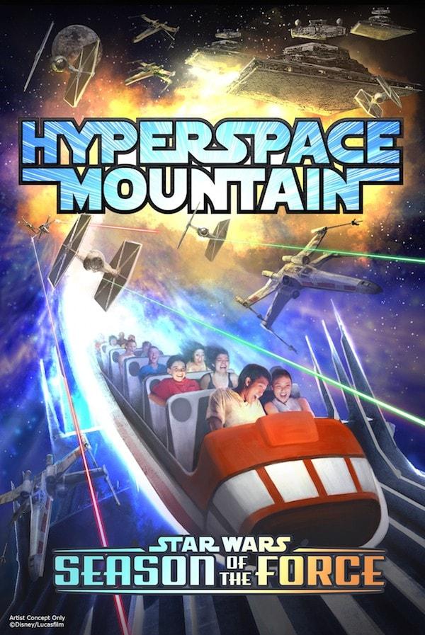 Star Wars Hyperspace Mountain #StarWars #SeasonOfTheForce