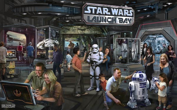 Star Wars Launch Bay to be added to Disney Parks #StarWars #D23Expo