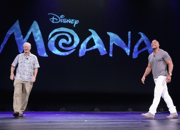 The Rock on stage at #D23Expo for #Moana