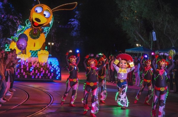 Toy Story Float with Slinky the Dog #Disneyland60 Paint the Night Parade #D23Expo