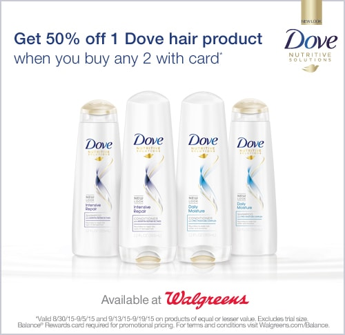 Dove savings at Walgreens