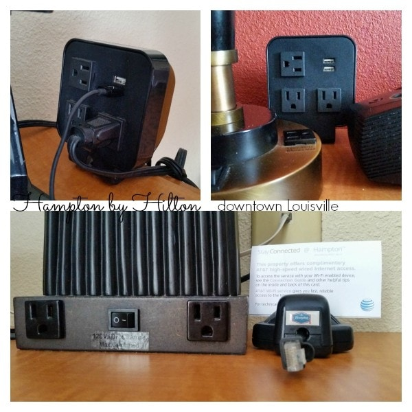 MUST have outlets! Hampton by Hilton understands. #WeGoTogether #MFRoadTrip #spon
