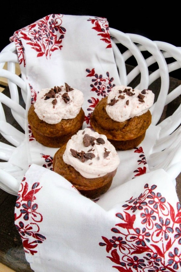 Chocolate Chip Pumpkin Muffins with Cranberry Buttercream Recipe