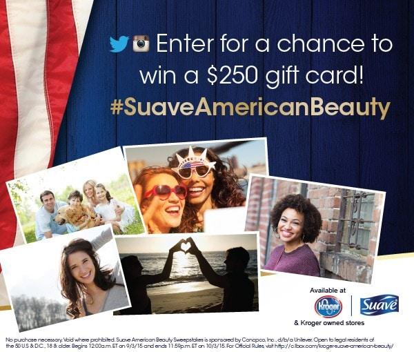 American Beauty Sweepstakes #SuaveAmericanBeauty