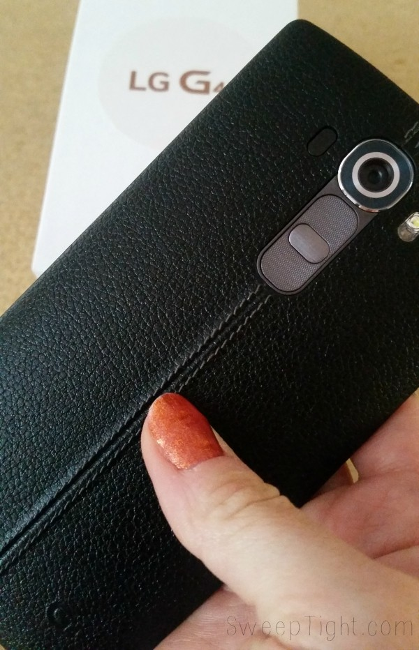 The LG G4 smartphone is awesome! Leather back and 16MP camera plus 8MP front facing camera! Selfies will be on point. #SprintMom #MoveForward #IC #ad