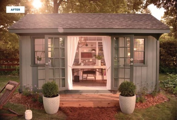 Transform an old shed into a She Shed