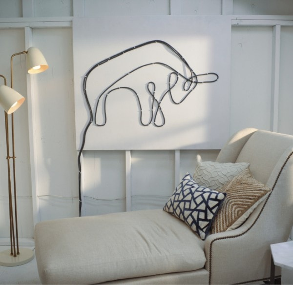 Turn wires into art in your She Shed