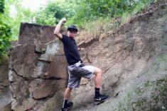 Adam climbing